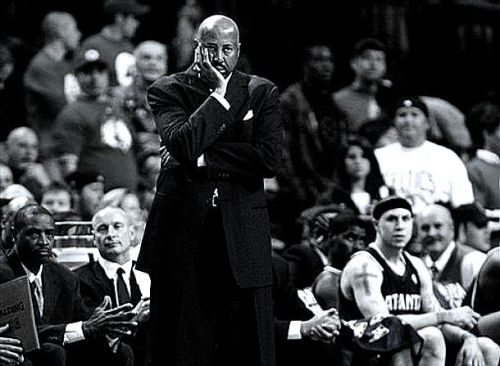 Mike Woodson Face - The Head Rest (AP Photo/Charles Krupa)
