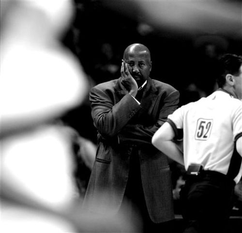 Mike Woodson's coaching has been long questioned.  (AP Photo/Eric Gay)